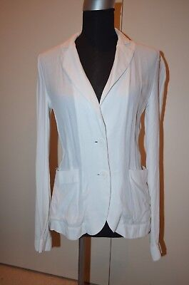 GUESS by MARCIANO Los Angeles Designer Withe BLAZER Jacket Size 6