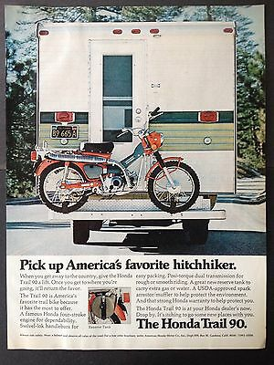 Vintage 1972 Ad (Odl5)~Honda Trail 90 Off Road Bike