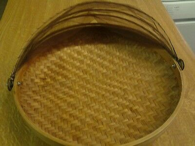 Bamboo food tent basket