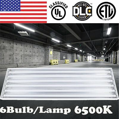 6-Lamp 6500K 132W T8 LED High Bay for Warehouse Shop Commercial Light Fixture EX