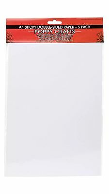 A4 sticky double sided paper 5 pieces per pack will post Australia wide for $7