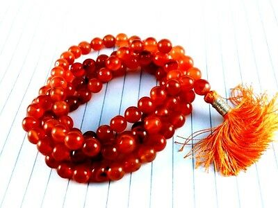 Carnelian Rosary Wholesale 10 Pair 8MM 100% Natural 108 Bead Round Shaped beads