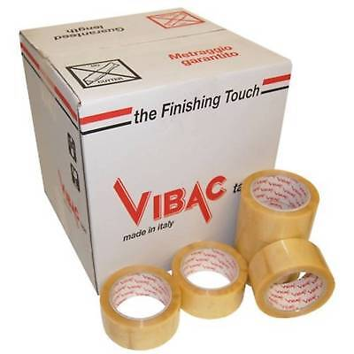 Vibac 828 Polypropylene Tape Acrylic Low Noise Clear 28mu 48mm X 66m Pack 36