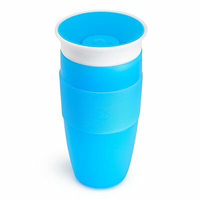 Miracle 360 Sippy Cup for Toddler Blue Silicon Grip w/ Heart Design 14 Ounce