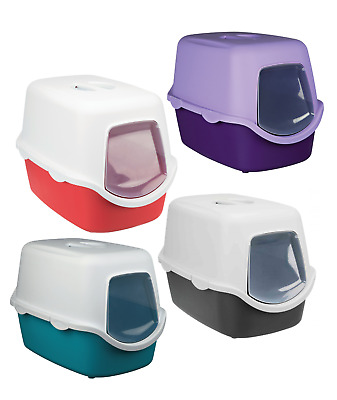 Trixie Vico Hooded Cat Litter Tray Flap/Dome Various Colours 40 x 40 x 56 cm