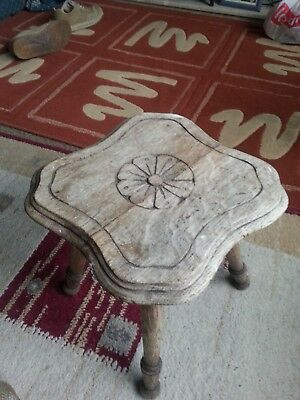 oak stool four legs (collection only from bn16)