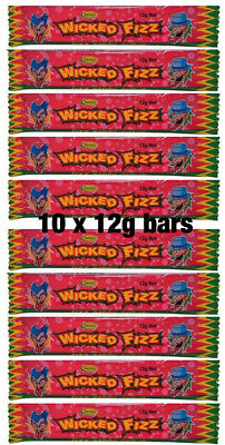 10 Wicked Fizz Chews - Berry | Candy Sweets Lollies Lolly Party Favours Favors