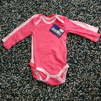 NEW 2x Long sleeve bodysuits in Pink 2-6months (62-