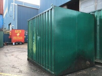 10ft x 8ft steel shipping container in used condition