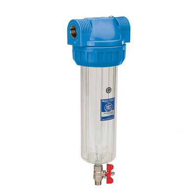 """1"""" BSP 10"""" water filter housing with pressure relief valve FHPR1-3VS Brass"""