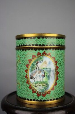 19th/20th C. Chinese Huafalang Cloisonné Enameled Covered Box