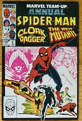 Marvel Team-up Annual Spider-man, Cloak and Dagger, The New Mutants #6