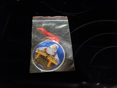"""Norman Rockwell's """"checking His List"""" 1984 Christmas Tree Ornament~~New"""