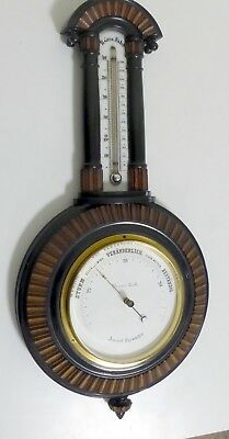 Anrroid  Barometer / Thermometer / Wetterstation / Pariser Zoll antik original
