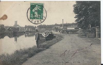 CPA - CLAMECY (58) Le Port du Canal - ANIMEE