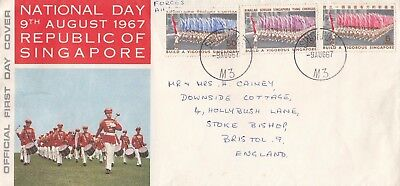 K 2335 Singapore Aug 1967 National Day  First Day Cover + booklet to UK