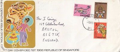 K 366 Singapore December 1968 First Day Cover to UK