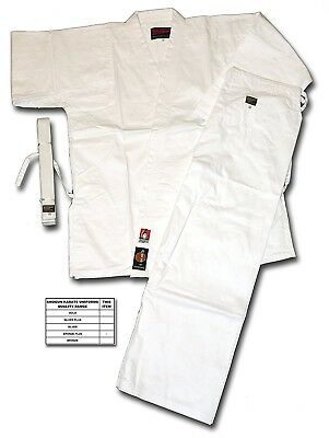 (155) - Shogun white karate uniform/suit/gi, Bronze Plus quality. Best Price