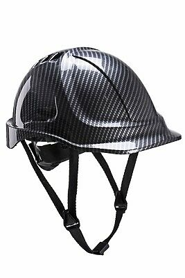 Portwest PC55 Hard Hat Safety Endurance Carbon Helmet Lightweight Vented - Grey