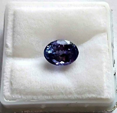 1.89 Ct  IGTLJ LABORATORY CERTIFIED SHIMMERING IF OVAL NATURAL TANZANITE