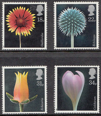 Sg1347-1350 1987 Flower Photographs ~ Unmounted Mint Gb