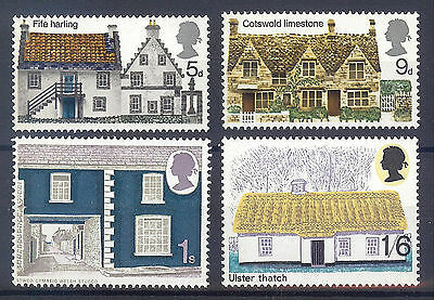 SG815-818 1970 RURAL ARCHITECTURE Unmounted Mint GB.