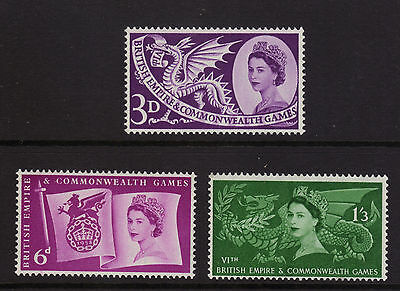 SG567-569 1958 COMMONWEALTH GAMES  Unmounted Mint