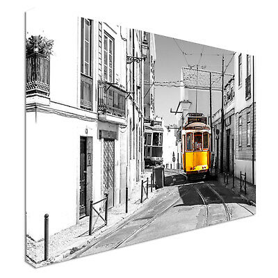 Lisbon Tram Canvas Print Crafted In London - Quality Assured