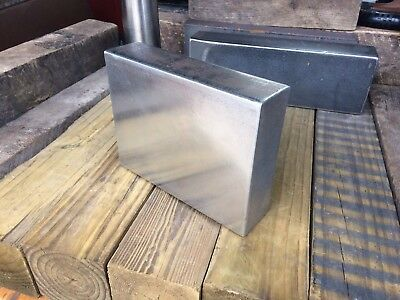 """Heavy Carbon Steel Bar  7.7"""" x 5.8"""" x 2""""  for Striking Anvil/Bench Hammer Plate"""