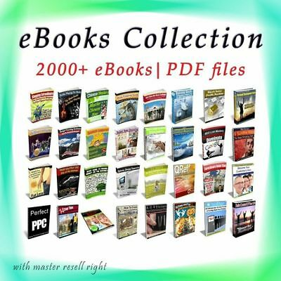 EBooks Package 2000 Collection 6 GB with Master Resell Rights PD
