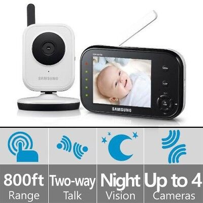 Samsung SEW-3036W BabyVIEW Baby Monitoring System IR Night Vision Zoom 3.5i 3036
