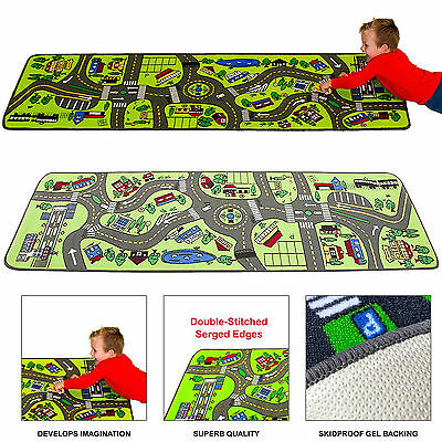 Kids Play Rug Carpet City Floor Roads Travel Street Toy Car Trucks Learning Map