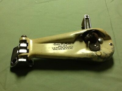 VTG MCM Chrome Rival Can-O-Mat Opener 45-S Wall Mount.