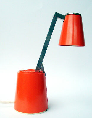 Lampette Leuchte Lampe Orange Designklassiker Space Age 60/70er TOP