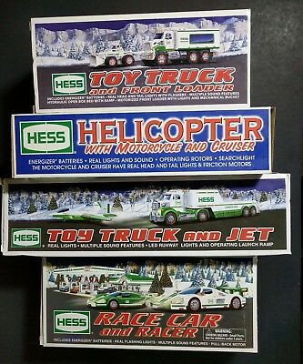 Lot of 4 HESS TRUCK 2001 2008 2009 2010 all with boxes