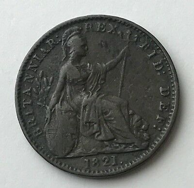 Dated : 1821 - One Farthing - Coin - King George IIII - Great Britain