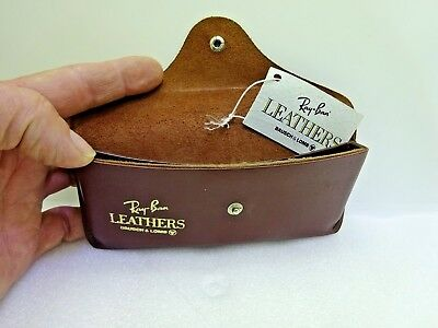 Vintage Ray Ban BL Leathers Sunglasses Case with Tag Only