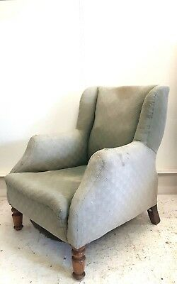 Vintage Retro Mid Century French Armchair Easy Library Salon Bedroom Chair