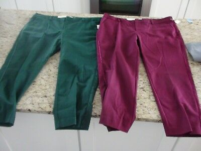 8b708148870 WOMENS AVA VIV Colorblock Green and Black Plus Size Ankle Pants NWOT ...