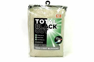 "Emery Total Blackout™ 63"",  1 Rod Pocket Insulated Curtain Panel - Oatmeal"