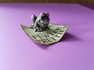 Cute Pewter Frog Miniature