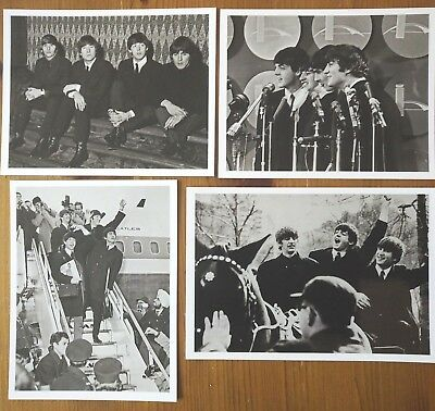 THE BEATLES- A Set of 4 photos Beatles in New York1963 - 13cm x ;10cm