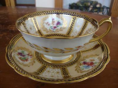 Fine Vintage Paragon Bone China Hand Painted Cup And Saucer.