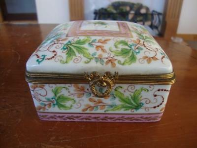 Fine Vintage French Le Tallec Paris Porcelain Hand Painted Lidded Trinket Box.