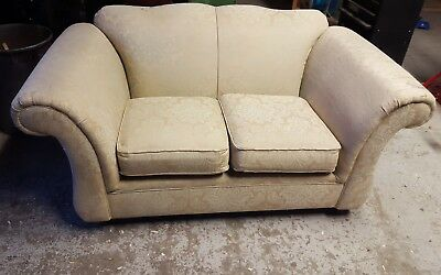 Antique victorian style two seater l sofa. Very pretty . Solid wooden frame