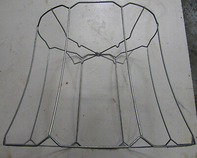 Lamp shade wire frame oval large for floor lamp 5995 picclick lampshade oval frame wire scallop large vintage restoration repair keyboard keysfo