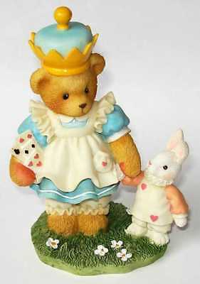 Cherished Teddies retired NIB. Alicia Alice in Wonderland looking glass 302465