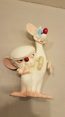 Rare Vintage 1995 Pinky And The Brain Plastic Figure Of Both Warner Brothers
