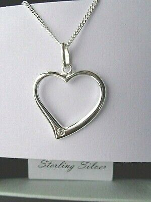 Valentines Gift Heart Pendant Necklace Sterling Silver Hallmark Jewellery Boxed