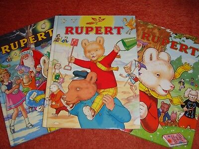 Three Rupert Bear Annuals   ( Numbers  57,58 & 59)   One Signed By The Artist.
